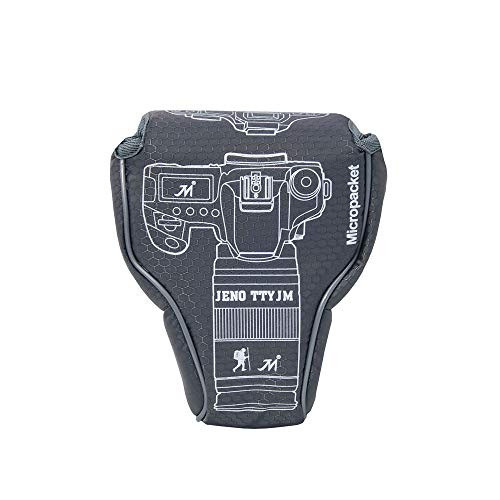 Nikon D3500 Camera Case, Zakao Mirrorless Camera Pouch Hoes Hoes voor Nikon D3400 D3500 met 18-55mm Lens, J5 10-100mm, Z6 Z7 24-70mm, Grijs