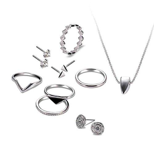 Floridivy eenvoudige zilver vergulde V vorm vinger ringen oorbellen oorbellen armbanden chique vrouwen sieraden sets