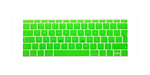 For Macbook 12 Inch 2017 & 2016 Release A1708 No Touch Bar & For Macbook Pro 13 Inch Eu Layout Keyboard Cover A1534 Skin-Green