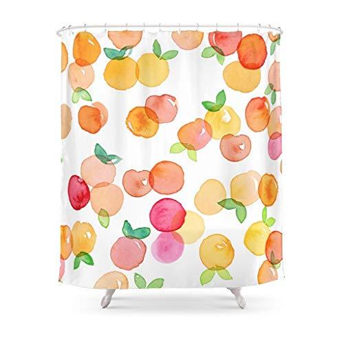 duanyunmei Pfirsichblüte Duschvorhang wasserdichter Polyester Stoff Baddekoration Multi-Size-Druck Duschvorhang mit 12 Haken