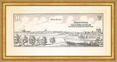 Kunstdruck Zedenick Zehdenick Havel Ruppiner Land Zisterzienserinnen Merian 0610 Gerahmt