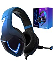 NEEDONE K19 Blauw Gaming Headset met Microfoon voor PS4 PS5 XBOX One Nintendo Switch PC Laptop Mac Smartphone Stereo Bass Sound (BLAUW)