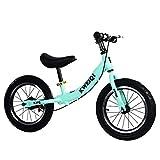 Bicicleta Balance Sin Pedales, Bici con Ruedas De 14' para Niños De 3-7 Años, Balance Bici con Sillín Ajustable, Neumáticos Inflables para Aprendizaje De Equilibrio (Máximo 30 Kg),Verde