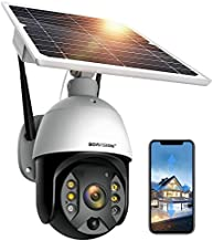 Outdoor Security Camera,Solar Powered Battery WiFi Camera Wirefree Outdoor 1080P Pan Tilt Wireless Camera PIR Motion 2 Way Audio Night Vision Cloud Storage Boavision S10
