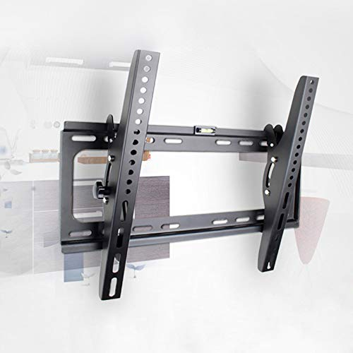 WangSH 23'30' 40'55' Montaje en Pared Soporte de TV 50'Metal 60kg VESA 400x400 Panel LCD TV Montaje de Pared Incline la inclinación hacia Abajo 15 Burbuja de construcción