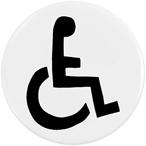 Azeeda 58mm 'Rollstuhl-Symbol' Pin Knopf-Abzeichen (BB00021984)