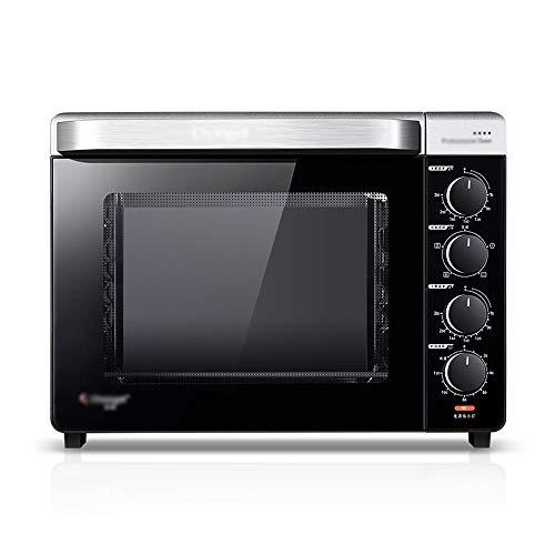 Chun Li Mini four électrique multifonctionnel émaillé à la cuisson for émail argenté 32L, petit four électrique, 45,5x35x34cm four grille-pain (Color : Silver)