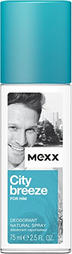Mexx City Breeze For Him Deo Natural Spray, 1er Pack (1 x 75 ml)