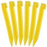 com-four® 6X Zelt-Heringe aus Kunststoff - Erdnägel für Camping und Outdoor - ideal für normalen Boden