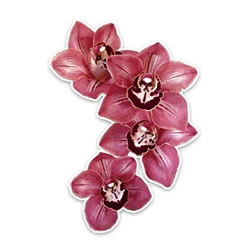 JKGHK Pegatinas para coche, 2 unidades, diseño de orquídeas, 9,5 x 13,5 cm