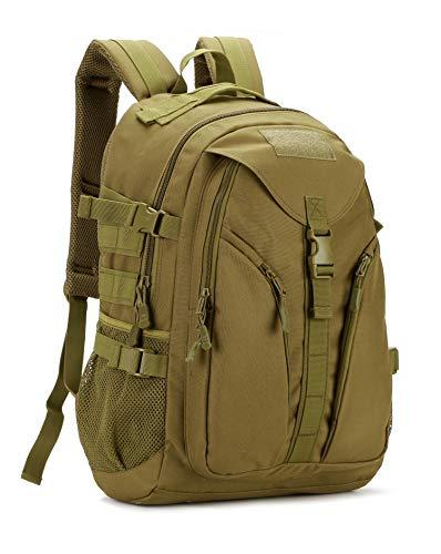 Yakmoo Sac à Dos Tactique de Grande Capacité Militaire Backpack Imperméable Molle Système Sac d'école en Nylon Sac de Multifonction 40L à l'Air Libre