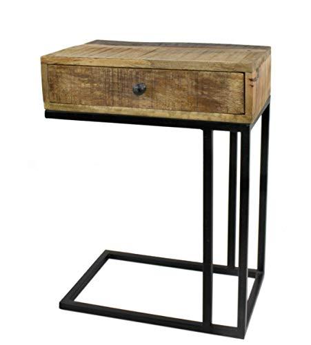DARO DEKO Mango Holz Möbel Natur Couch Beistell-Tisch 46 x 61cm
