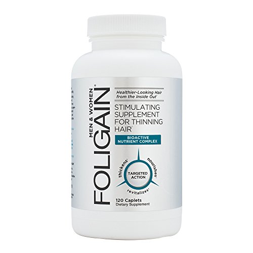 Foligain Stimulating Supplement for Thinning Hair | Healthier-Looking Hair | Hair Supplement, 120Count