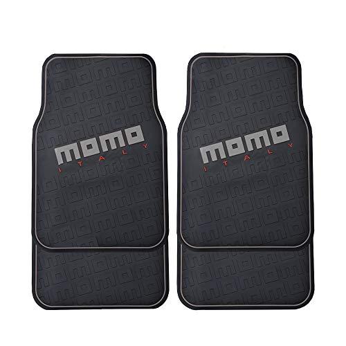 MOMO MOM-CM009BG Alfombrillas Coche Goma Universales, Negro, Norme
