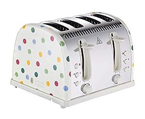 Russell Hobbs 21305 Emma Bridgewater Toaster, Polka Dot 4 Slice Toaster, 2400 W
