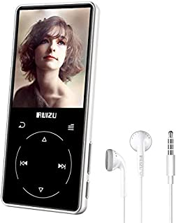 RUIZU New mp3 D16 Mp3 Player USB 8Gb 16G Storage 2.4 inches HD Color Screen Play Video Radio Fm E-Book Music Player (Silver)