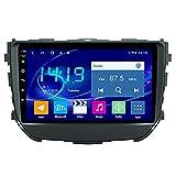 yanzz Radio de Coche estéreo para Suzuki Brezza 2016-2018 In Dash Navegador GPS de 9 Pulgadas Unidad Principal Soporte USB SD Dab RDS Video Bluetooth WiFi SWC Mirror Link Cámara de Respaldo 4GB +
