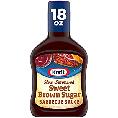 Kraft Barbecue Sauce Slow-Simmered Sauce, Sweet Brown Sugar, 18 Ounce