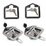 WFLNHB 2 Stainless Steel Trailer Door Latch T-Handle Lock for Camper RV Truck Tool with Keys
