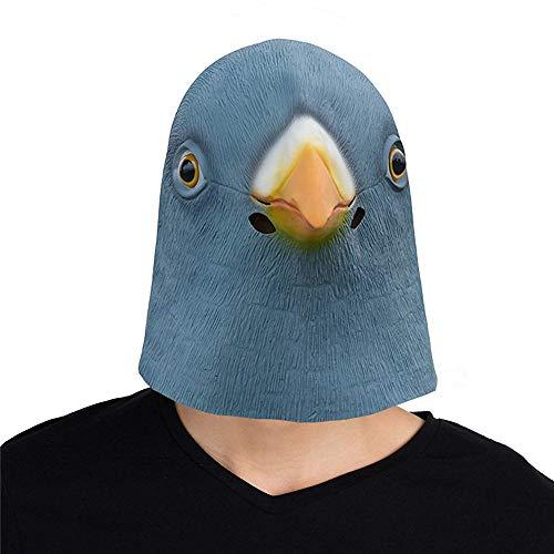 LYHLYH Latex Dierenkop Masker, Duif Masker Latex Dierenkop Rubber Vogelkostuum voor Feest, Geschenk, Volwassen Kid Halloween
