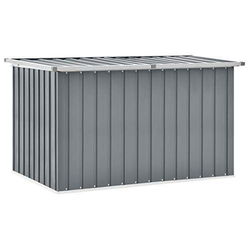 vidaXL Gartenbox Auflagenbox Kissenbox Aufbewahrungsbox Truhe Box Gartenmöbel Gartenkasten Gartentruhe Werkzeugkasten Grau 149x99x93cm