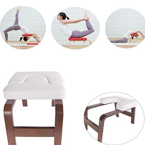 ODIMAI Yoga-Hocker,Weiß,Bodylift Kopfständer, Ständer, Yoga-Stuhl, Yoga-Inversions-Therapie, Für Fitnessübungen