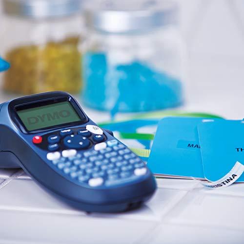 Kit de iniciación de la rotuladora Dymo LetraTag LT-100H | Rotuladora portátil | Con cinta de etiquetas de plástico, papel y transparentes | Perfecta para la oficina o para el hogar