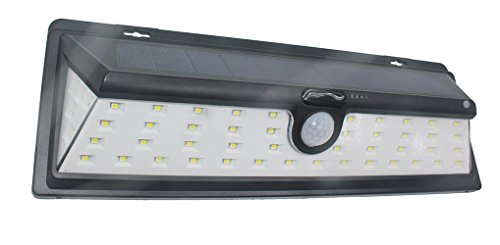 Solarleuchten für Außen Super Helle Wandleuchten Solarbetrieben Sicherheit lampe mit Bewegungs Sensor Energiesparende Wasserdichte 4 Modi (54 LED)