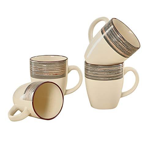Warebest Coffee Mugs Set,12oz Mugs Set of 4,Ceramic Coffee Mugs for Coffee,Tea,Cocoa(Gray)