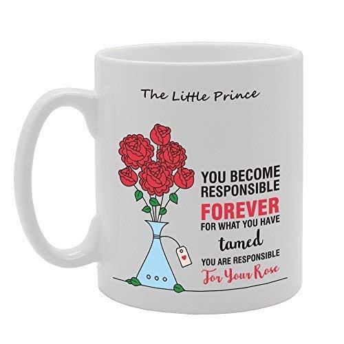 N / A El Principito Te conviertes en Responsable para Siempre Regalo de la Novedad Taza de café de té de cerámica