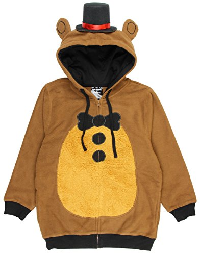 Five Nights at Freddy's Big Boys Freddy Fazbear Kostüm Hoodie - Braun - X-Large