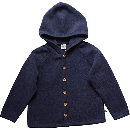 Fred'S World By Green Cotton Fleece Jacket Blouson, Bleu (Navy Mélange 207680001), 68/74 Mixte bébé