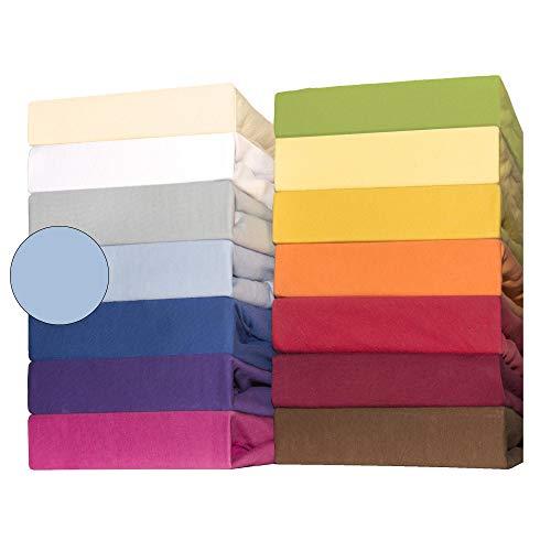 CelinaTex Lucina for Kids Baby Spannbettlaken Doppelpack 60x120-70x140 cm Aqua blau Baumwolle Spannbetttuch
