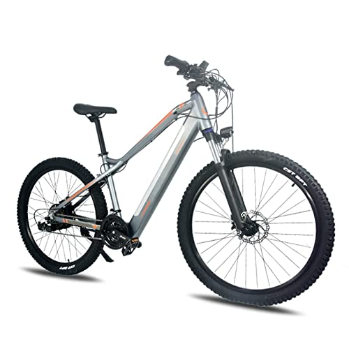 HMEI Bicicleta eléctrica para Adultos Bicicleta de montaña eléctrica de 500W 27 velocidades con batería de Iones de Litio extraíble de 48V 10.5Ah Neumático de 27.5 * 2.4 Pulgadas