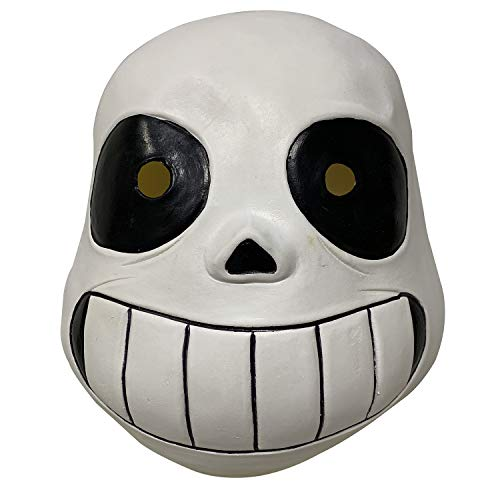 Undertale Sans Latex Full Head mask Masque Halloween Kid's Costume Accessory (White)
