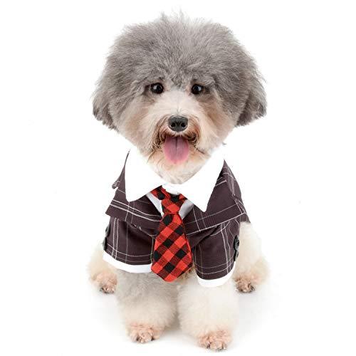 Zunea Disfraz de esmoquin para perro pequeño, para boda, novio,...