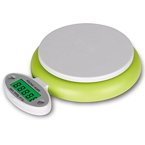 OBEST Mini échelle de cuisine professionnelle numérique électronique avec affichage de l'affichage pliable alimentaire pesant des balances pour cuisiner 11lbs / 5kg x 1g ...