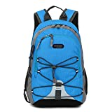 Small Size Waterproof Sport Backpack,10 inches Outdoor Daypack,Suitable for Height Under 4 feet,for Girl Boy Traveling (Blue)