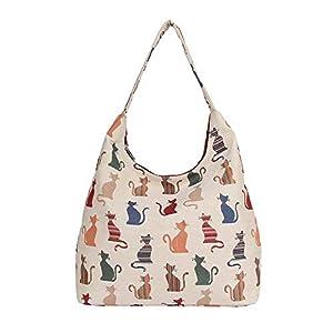 Signare Tapiz bolsa de vagabundo mochila bandolera mujer con diseño de animales y mascotas (Gato descarado)   DeHippies.com