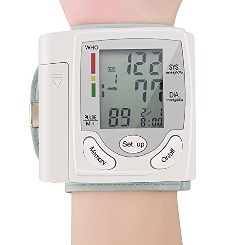 Soglen Tensiómetro de Brazo Monitor de Presión Arterial Digital Automatico con Gran Pantalla LED Deteccion de Irregular Arritmia Brazalete ecargable USB
