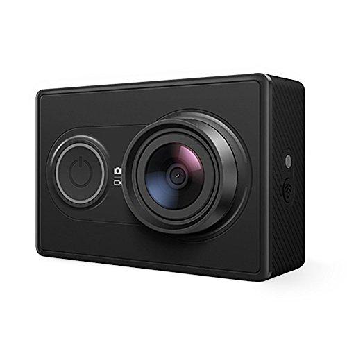 YI cámara de la acción 16MP HD. Cámara deportiva impermeable, 1080P/60fps 720P/30fps, 155sensor de gran angular Sony, con WiFi y Bluetooth, color negro