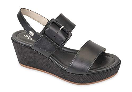 Valleverde Sandalo - Pulsera ajustable al tobillo 32213 negra Negro Size: 41 EU
