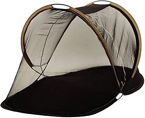 AL-UQBA Foldable Polyester Mosquito Net for Single Bed ( Black )