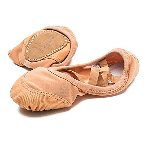 QHGao ballerina's voor meisjes, schoenen met zachte zolen van mesh-stretch, ademend, binnenzool van microvezel, zachte schoenen, schokbestendig en slijtvast.