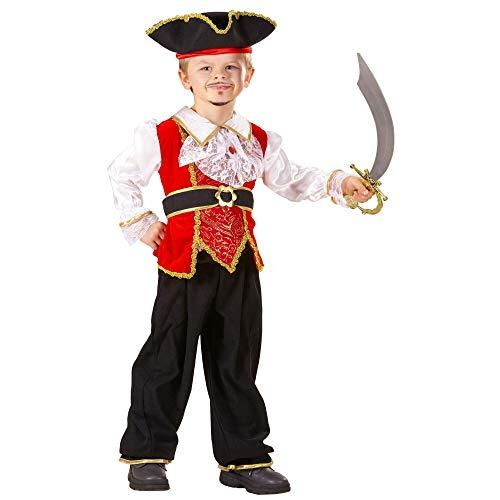 Widmann-Pirate, Corsari en Bucanieri kostuum voor kinderen, meerkleurig, 104 cm/2 3 years, 41079