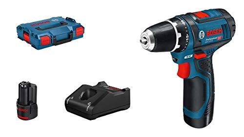 Bosch Professional 12V System Akku-Bohrschrauber GSR 12V-15 (inkl. 1x 2.0 Ah Akku, Ladegerät GAL 12V-40, in L-BOXX)