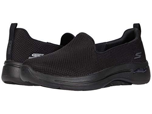 Skechers GO Walk Arch Fit Grateful Zapatillas de Correr sin Cordones Comfort Walking Running para Mujer - Negro - 38
