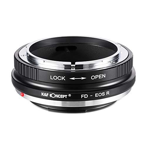 K&F Concept レンズアダプター FD-EOS R Canon FDレンズ-Canon EOS Rカメラ装着用 無限遠実現 高精度「メーカー直営店」