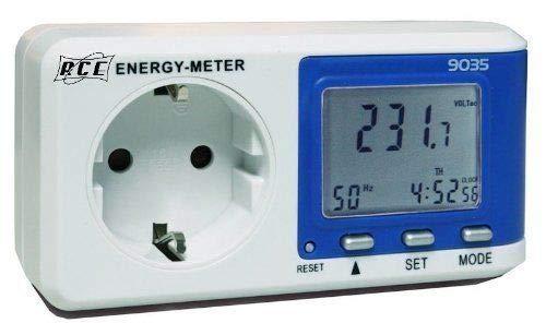 RCE P9035 Misuratore del costo energetico digitale con risoluzione 0,1 W, Bianco