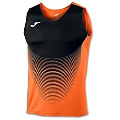 Camiseta Elite Vi Naranja Negro S/M Hombre
